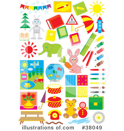 Royalty-Free (RF) Objects Clipart Illustration by Alex Bannykh - Stock Sample #38049