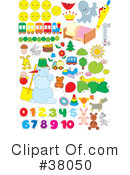 Royalty-Free (RF) Objects Clipart Illustration #38050