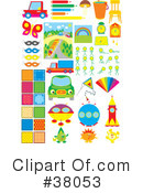 Royalty-Free (RF) Objects Clipart Illustration #38053