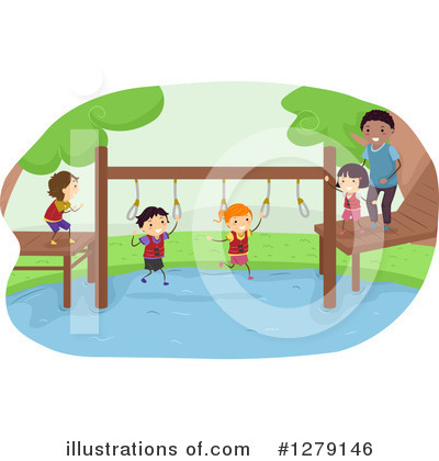 Royalty-Free (RF) Obstacle Course Clipart Illustration by BNP Design Studio - Stock Sample #1279146