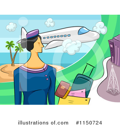 Stewardess Clipart #1150724 by BNP Design Studio