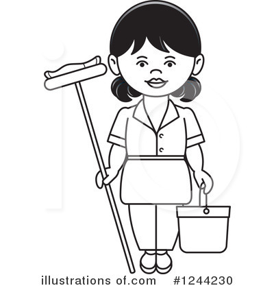 Maid Clipart #1244230 by Lal Perera
