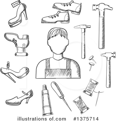 Cobbler Clipart #1375714 by Vector Tradition SM