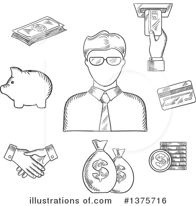 Handshake Clipart #1375716 by Vector Tradition SM