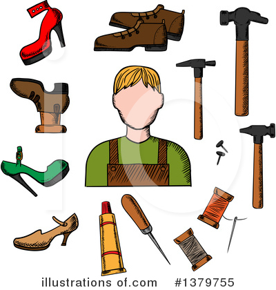 Cobbler Clipart #1379755 by Vector Tradition SM