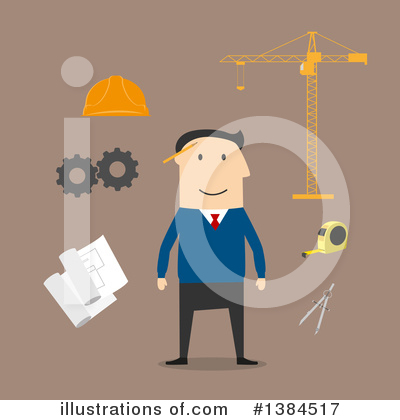 Builder Clipart #1384517 by Vector Tradition SM
