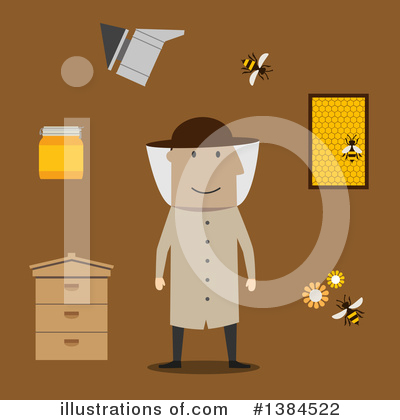 Bee Clipart #1384522 by Vector Tradition SM