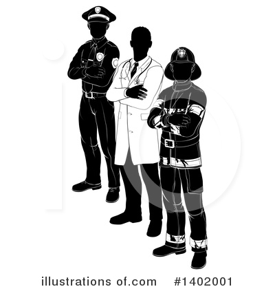 Police Man Clipart #1402001 by AtStockIllustration