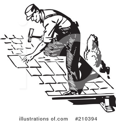 Roofer Clipart #210394 by BestVector