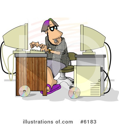 Typing Clipart #6183 by djart
