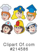 Royalty-Free (RF) Occupations Clipart Illustration #214586