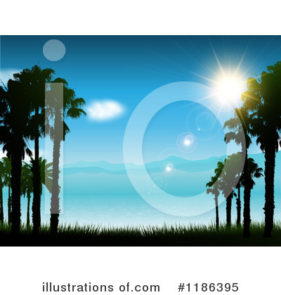 Tropical Beach Clipart #1186395 by KJ Pargeter