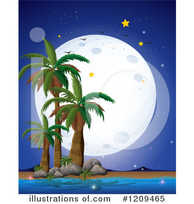 Palm Trees Clipart #1209465 by Graphics RF