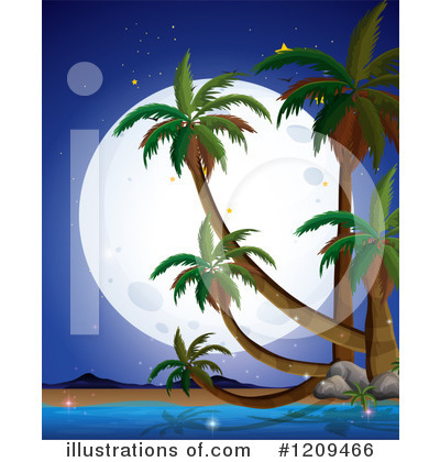 Palm Trees Clipart #1209466 by Graphics RF