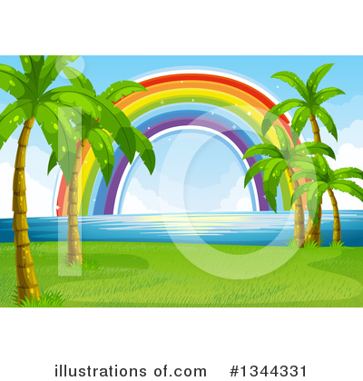 Palm Trees Clipart #1344331 by Graphics RF