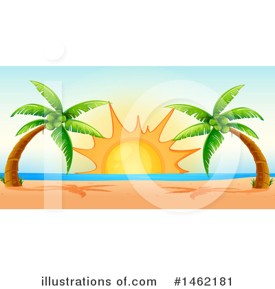 Palm Trees Clipart #1462181 by Graphics RF