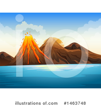 Volcano Clipart #1463748 by Graphics RF
