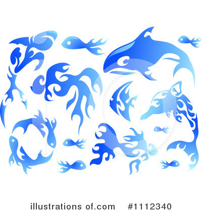 Shark Clipart #1112340 by BNP Design Studio