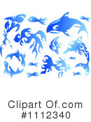 Royalty-Free (RF) Ocean Life Clipart Illustration #1112340