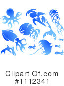 Royalty-Free (RF) Ocean Life Clipart Illustration #1112341