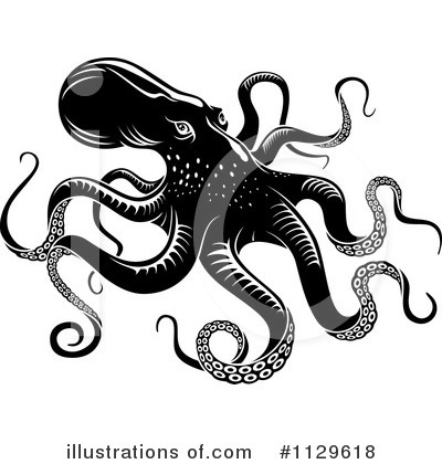 Royalty-Free (RF) Octopus Clipart Illustration by Vector Tradition SM - Stock Sample #1129618