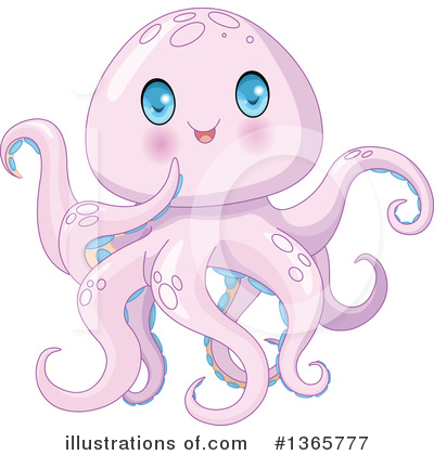 Octopus Clipart #1365777 by Pushkin