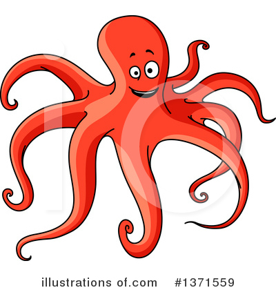 Octopus Clipart #1371559 by Vector Tradition SM