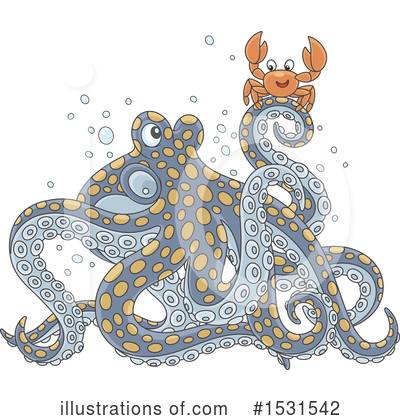 Octopus Clipart #1531542 by Alex Bannykh