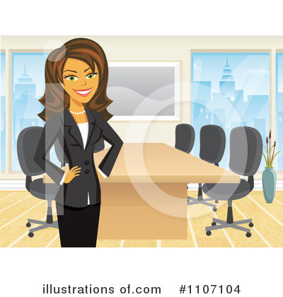 Businesswoman Clipart #1107104 by Amanda Kate