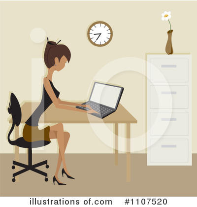 Laptop Clipart #1107520 by Amanda Kate