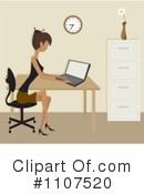 Office Clipart #1107520 by Amanda Kate