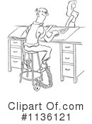 Royalty-Free (RF) Office Clipart Illustration #1136121