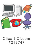 Royalty-Free (RF) Office Clipart Illustration #213747