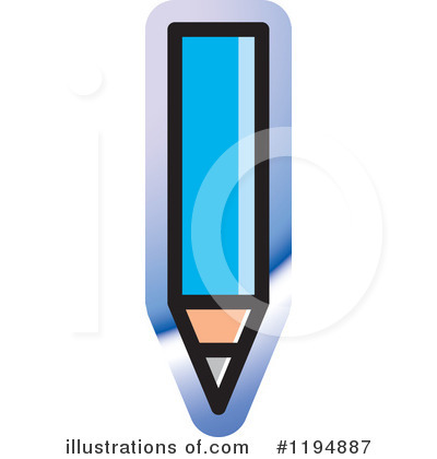Pencil Clipart #1194887 by Lal Perera