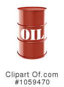 Royalty-Free (RF) Oil Barrel Clipart Illustration #1059470