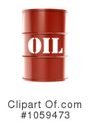 Royalty-Free (RF) Oil Barrel Clipart Illustration #1059473