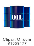 Royalty-Free (RF) Oil Barrel Clipart Illustration #1059477