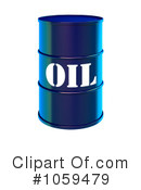 Royalty-Free (RF) Oil Barrel Clipart Illustration #1059479