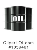 Royalty-Free (RF) Oil Barrel Clipart Illustration #1059481