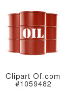 Royalty-Free (RF) Oil Barrel Clipart Illustration #1059482
