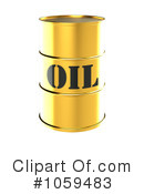Royalty-Free (RF) Oil Barrel Clipart Illustration #1059483