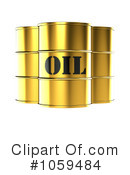 Royalty-Free (RF) Oil Barrel Clipart Illustration #1059484
