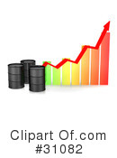 Royalty-Free (RF) Oil Barrel Clipart Illustration #31082