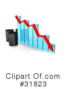 Royalty-Free (RF) oil barrel Clipart Illustration #31823