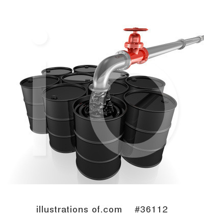 Oil Barrel Clipart #36112 by Frog974