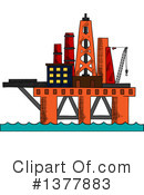 Oil Platform Clipart #1377883 by Vector Tradition SM