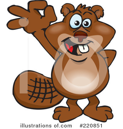 Beaver Clipart #220851 by Dennis Holmes Designs