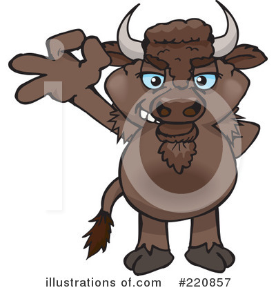 Bison Clipart #220857 by Dennis Holmes Designs