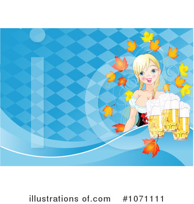 Beer Maiden Clipart #1071111 by Pushkin