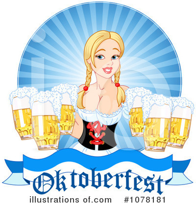 Beer Maiden Clipart #1078181 by Pushkin